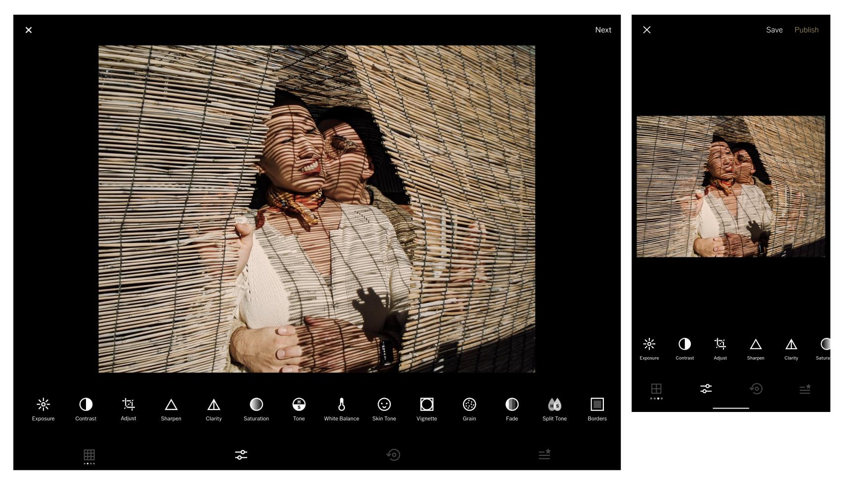 ipad and phone screenshots